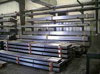 Steel Tubing On Racks